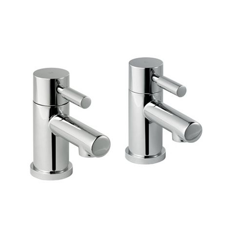 Cooke & Lewis Cirque Chrome Hot & Cold Basin Taps, Pack of 2