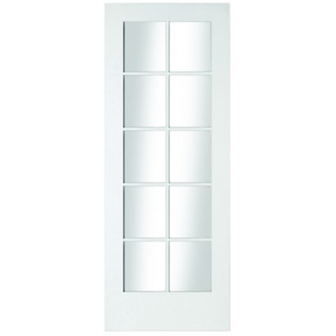 10 Lite Primed Internal Door, (H)1981mm (W)762mm