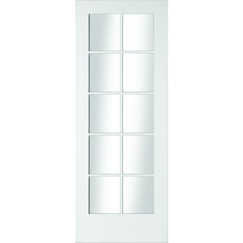 10 Lite Primed Internal Door, (H)1981mm (W)838mm
