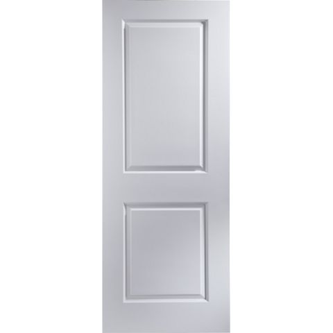 2 Panel Primed Smooth Internal Unglazed Door, (H)2040mm (W)726mm