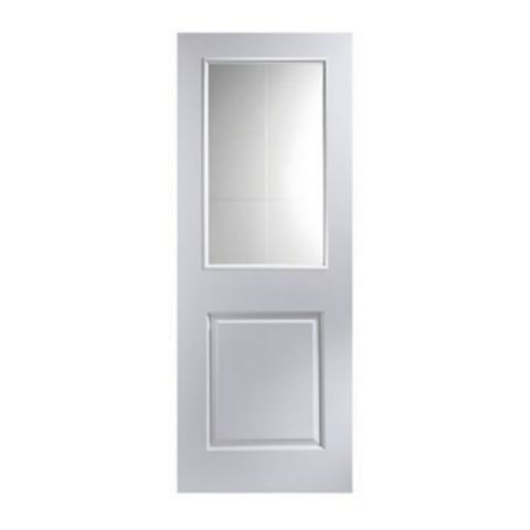 2 Panel Primed Internal Door, (H)1981mm (W)686mm