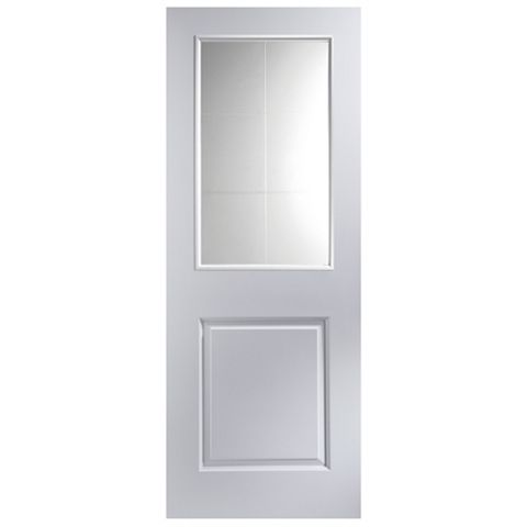 2 Panel Primed Internal Door, (H)1981mm (W)838mm