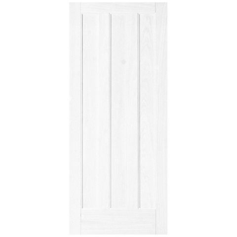 Vertical 3 Panel Primed Internal Door, (H)1981mm (W)838mm