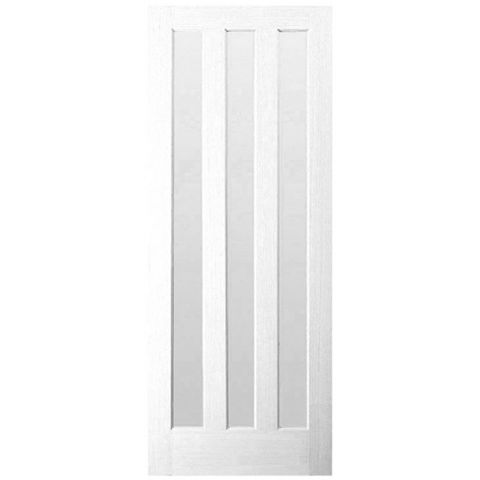 Vertical 3 Panel Primed Internal Door, (H)1981mm (W)686mm