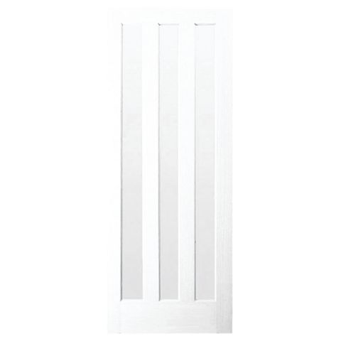 Vertical 3 Panel Primed Glazed Internal Door, (H)1981mm (W)838mm