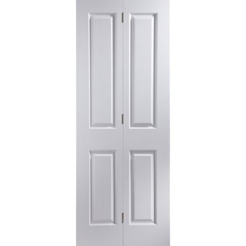 4 Panel Primed Woodgrain Effect Internal Bi-Fold Door, (H)1950mm (W)826mm