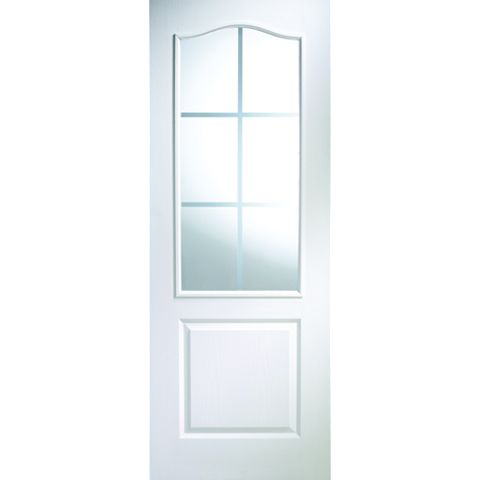 2 Panel Arched Pre-Painted White Internal Door, (H)1981mm (W)838mm