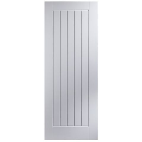Cottage Panelled Primed Internal Door, (H)1981mm (W)762mm