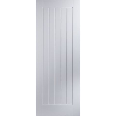 Cottage Panelled Primed Internal Door, (H)1981mm (W)610mm
