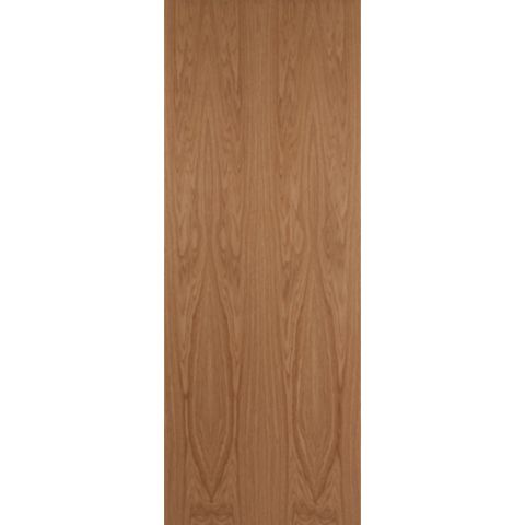 Flush Oak Veneer Internal Unglazed Door, (H)1981mm (W)610mm