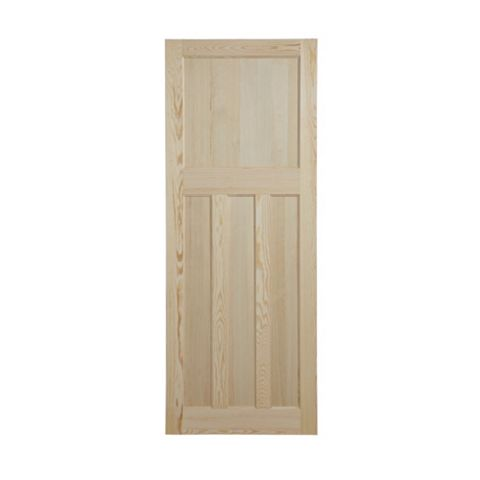 Traditional Panelled Clear Pine Internal Door, (H)1981mm (W)838mm