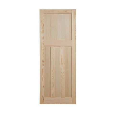 Traditional Panelled Clear Pine Internal Door, (H)1981mm (W)610mm
