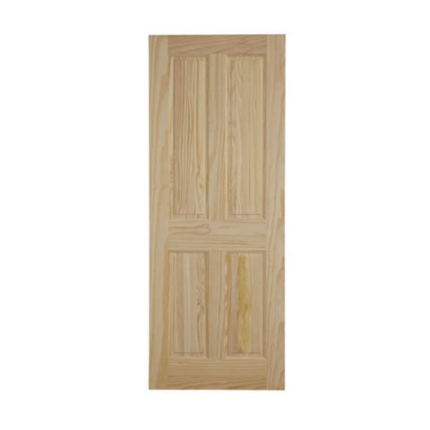 4 Panel Clear Pine Internal Fire Door, (H)2040mm (W)826mm