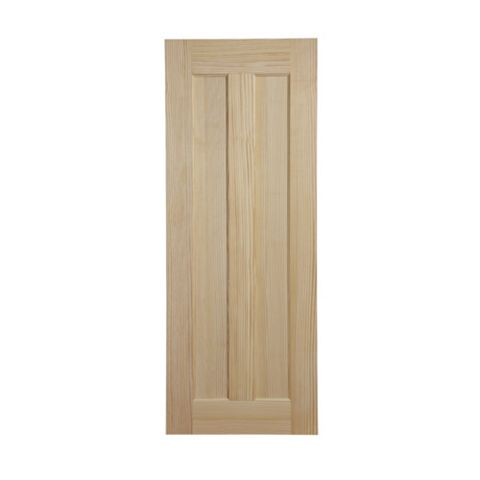 2 Panel Clear Pine Internal Door, (H)2040mm (W)726mm