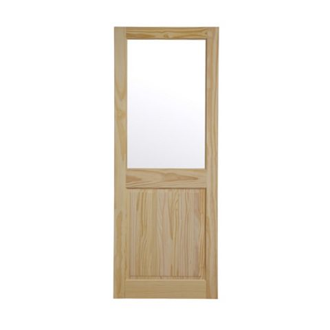 2 Panel Clear Pine Internal Door, (H)1981mm (W)762mm