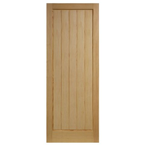 Cottage Panelled Clear Pine Internal Door, (H)1981mm (W)686mm