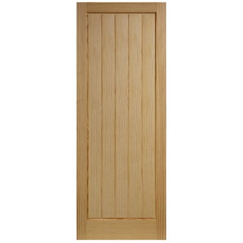 Cottage Panelled Clear Pine Internal Door, (H)1981mm (W)838mm