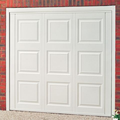 Jersey Framed Retractable Garage Door, (H)2134mm (W)2286mm