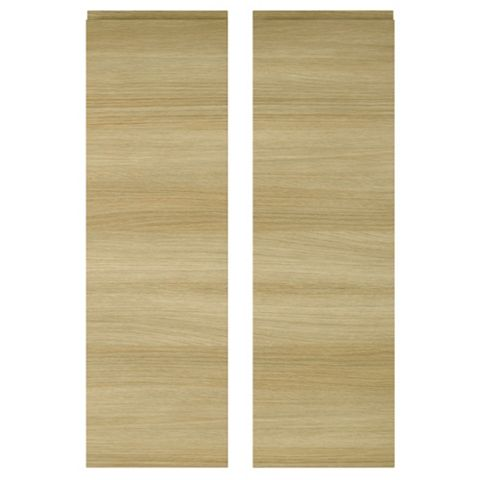 IT Kitchens Marletti Horizontal Oak Effect Larder Door (W)300mm, Set of 2