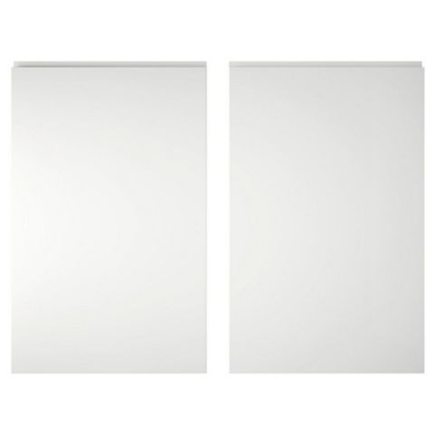 IT Kitchens Marletti White Gloss Larder Door (W)600mm, Set of 2