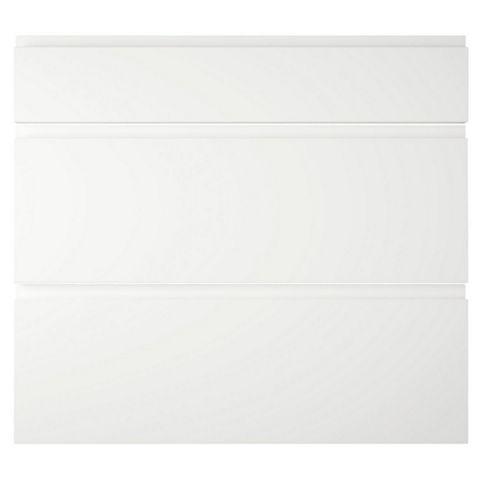 IT Kitchens Marletti White Gloss Pan Drawer Front (W)800mm, Set of 3