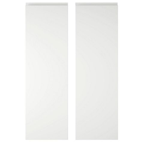 IT Kitchens Marletti White Gloss Larder Door (W)300mm, Set of 2