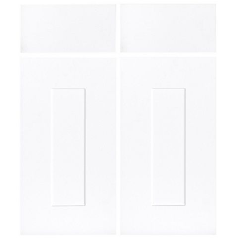 IT Kitchens Stonefield White Classic Style Corner Base Drawerline Door (W)925mm, Set of 2