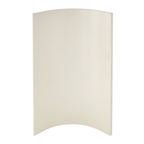 Cooke & Lewis Raffello High Gloss Cream Slab Tall Wall Internal Curved Door