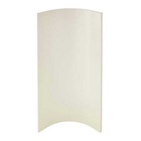 Cooke & Lewis Raffello High Gloss Cream Slab Base Internal Curved Door
