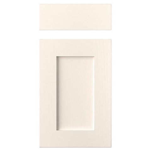Cooke & Lewis Carisbrooke Ivory Drawerline Door & Drawer Front (W)400mm, Set of 1 Door & 1 Drawer Pack