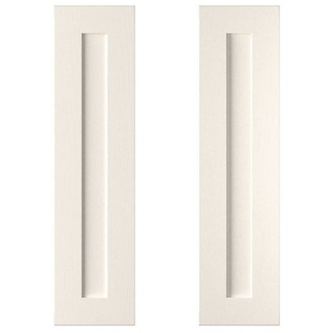 Cooke & Lewis Carisbrooke Ivory Larder Door (W)300mm, Set of 2