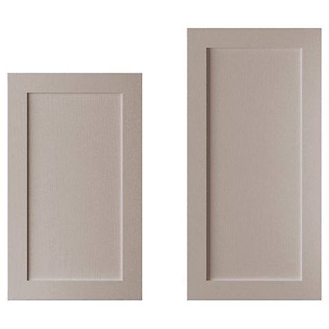 Cooke & Lewis Carisbrooke Taupe Larder Door (W)600mm, Set of 2