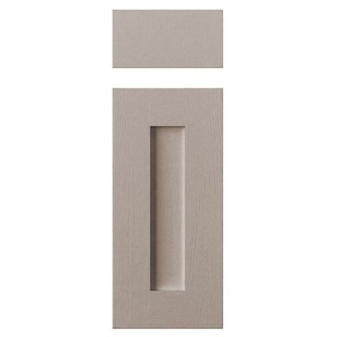 Cooke & Lewis Carisbrooke Taupe Drawerline Door & Drawer Front (W)300mm, Set of 1 Door & 1 Drawer Pack