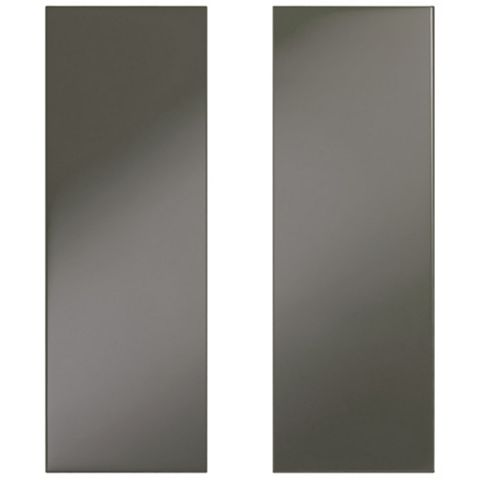 IT Kitchens Santini Gloss Anthracite Slab Corner Wall Door (W)625mm, Set of 2