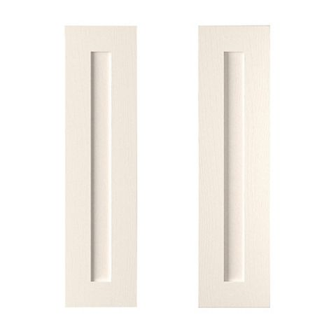Cooke & Lewis Carisbrooke Ivory Tall Corner Wall Door (W)625mm, Set of 2