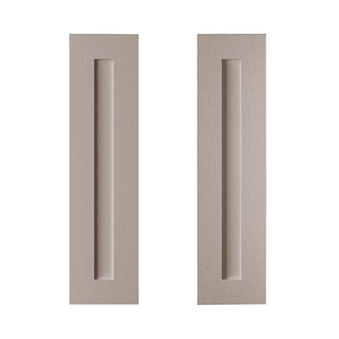 Cooke & Lewis Carisbrooke Taupe Tall Corner Wall Door (W)625mm, Set of 2