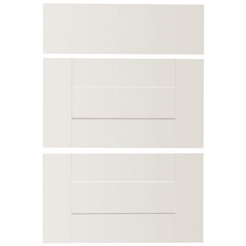 IT Kitchens Stonefield White Classic Style Drawer Front (W)600mm, Set of 3