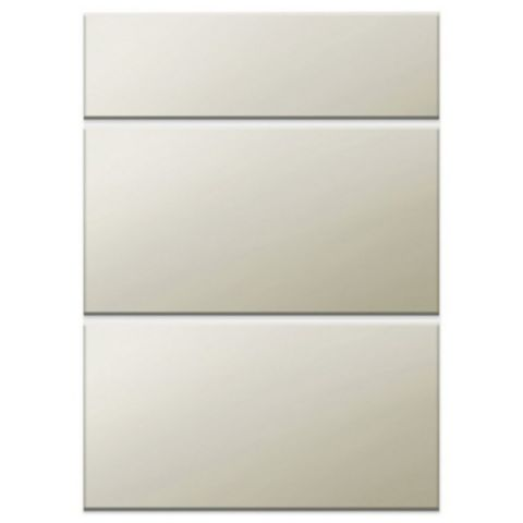 IT Kitchens Santini Gloss Grey Slab Drawer Front (W)600mm, Set of 3