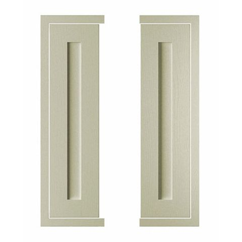 Cooke & Lewis Carisbrooke Taupe Framed Tall Corner Door (W)625mm, Set of 2