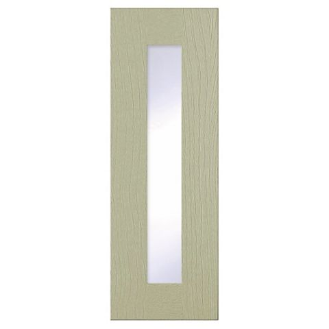 Cooke & Lewis Carisbrooke Taupe Framed Glazed Door (W)300mm