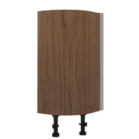 Cooke & Lewis Antero Walnut Effect Curved Base Cabinet