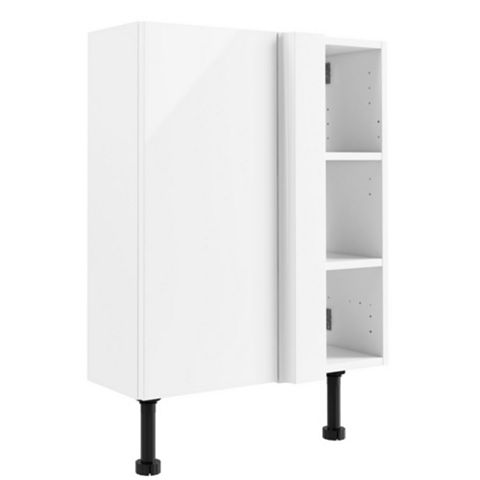 Cooke & Lewis Santini Gloss White Slimline Corner Base Unit