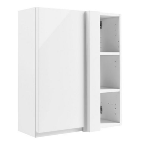 Cooke & Lewis Appleby Gloss White Corner Wall Cabinet