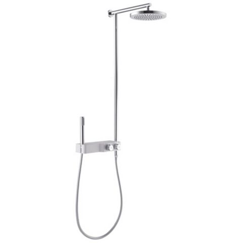 Cooke & Lewis Hydra Chrome Thermostatic Mixer Shower