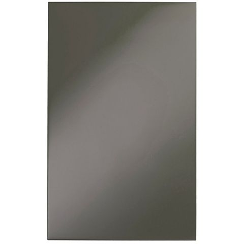 IT Kitchens Santini Gloss Anthracite Slab Tall Larder Door (W)600mm, Set of 2