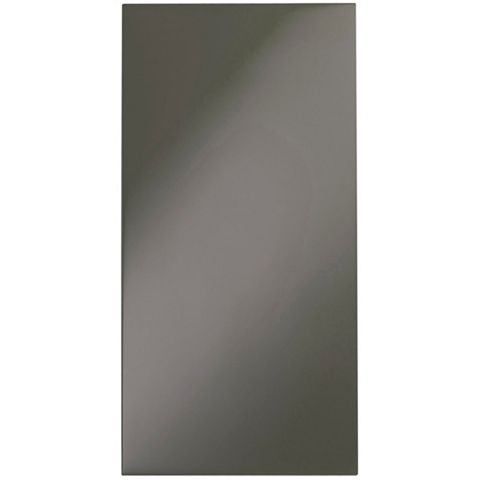 IT Kitchens Santini Gloss Anthracite Slab Tall Larder Door (W)300mm, Set of 2