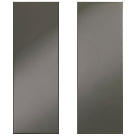 IT Kitchens Santini Gloss Anthracite Slab Tall Corner Wall Door (W)625mm, Set of 2