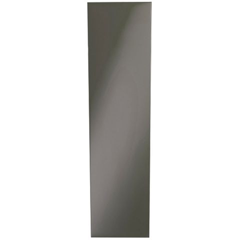 IT Kitchens Santini Gloss Anthracite Slab Curved Base Filler Panel, 277 x 715mm