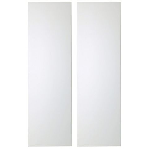 IT Kitchens Santini Gloss White Slab Tall Larder Door (W)300mm, Set of 2