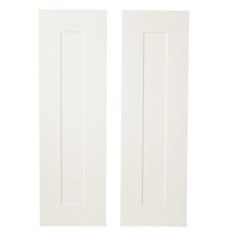 IT Kitchens Stonefield Ivory Classic Style Tall Larder Door (W)300mm, Set of 2